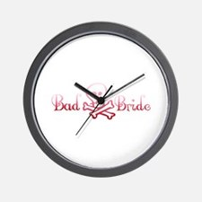 Bad Bride Wall Clock