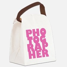 P1pink Canvas Lunch Bag