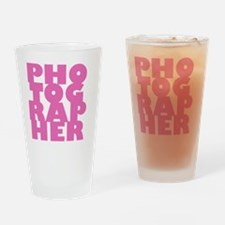 P1pink Drinking Glass
