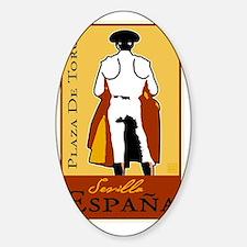sevilla_new Sticker (Oval)