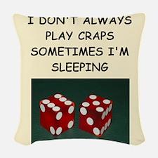craps Woven Throw Pillow