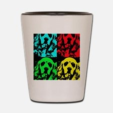 Grady Warhol Notecard Shot Glass