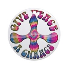 give-peace-chnc-DKT Round Ornament