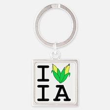 IheartIA v1 Square Keychain