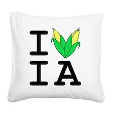 IheartIA v1 Square Canvas Pillow