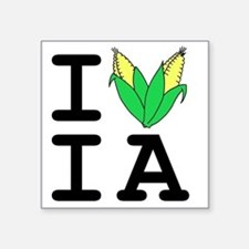 "IheartIA v1 Square Sticker 3"" x 3"""