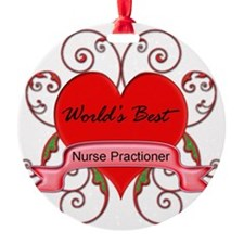 Worlds Best Nurse Practioner with h Ornament