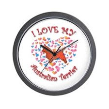 Love Terrier Wall Clock