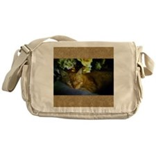 Sleeping Cat Messenger Bag