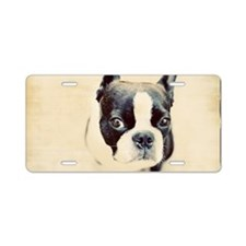 Boston Terrier Aluminum License Plate