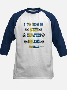 Swedish Football Fan Kids Baseball Jersey