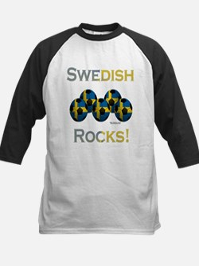 Swedish Football Rocks Kids Baseball Jersey