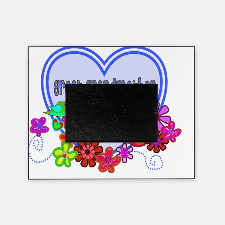 great grandmother Blue heart Picture Frame
