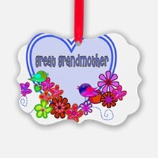great grandmother Blue heart Ornament