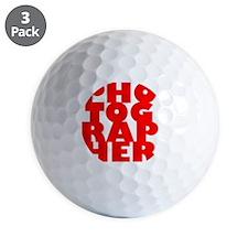 P1red Golf Ball