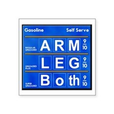 """High Gas Prices 2 Square Sticker 3"""" x 3"""""""