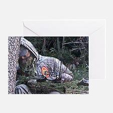 Sleepy Bowhunter Greeting Card