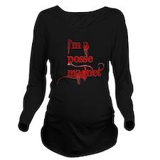 possemagnet1.gif Long Sleeve Maternity T-Shirt