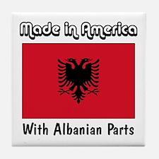 Albanian Parts Tile Coaster