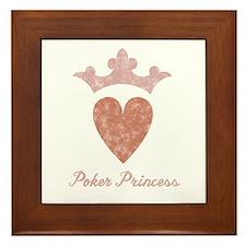 Poker Princess 2 Framed Tile