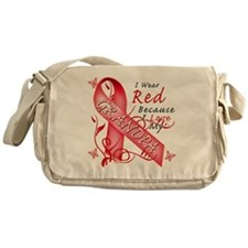 I Wear Red Because I Love My Grandpa Messenger Bag