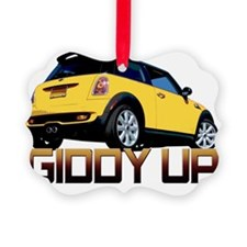 Cooper - Getty Up Yellow Ornament