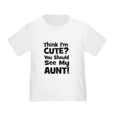 Think I'm Cute? Aunt - Black T