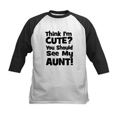 Think I'm Cute? Aunt - Black Tee