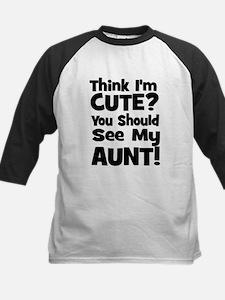 Think I'm Cute? Aunt - Black Tee