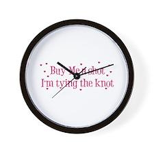 Buy Me A Shot - Hot Pink Wall Clock