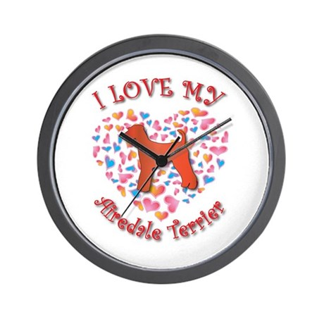 Love Airedale Wall Clock