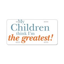 greatestchildren2 Aluminum License Plate