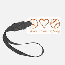 Peace, Love, Giants Luggage Tag