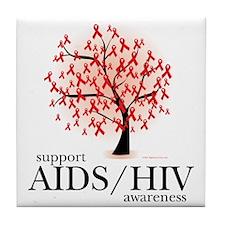 AIDSHIV-Tree Tile Coaster