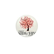 AIDSHIV-Tree Mini Button
