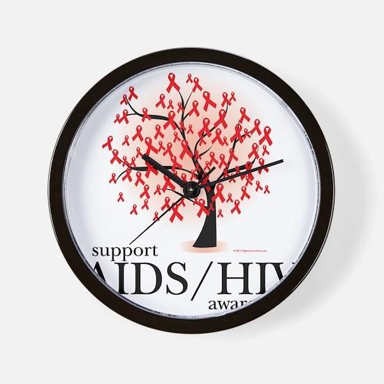 AIDSHIV-Tree Wall Clock