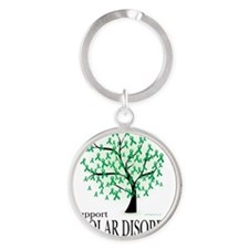 Bipolar-Disorder-Tree Round Keychain