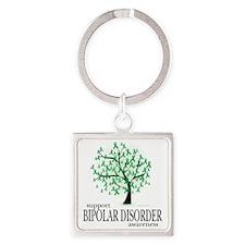 Bipolar-Disorder-Tree Square Keychain
