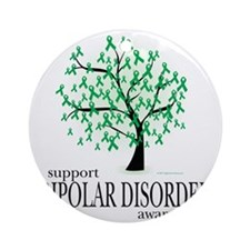 Bipolar-Disorder-Tree Round Ornament