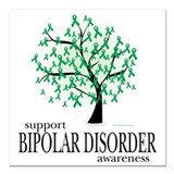 Bipolar disorder awareness Square Car Magnets