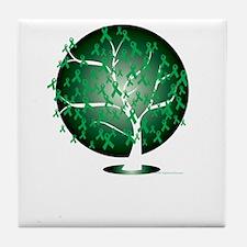 Bipolar-Disorder-Tree-blk Tile Coaster