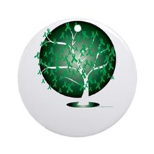 Bipolar-Disorder-Tree-blk Round Ornament