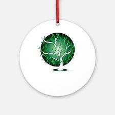 Bipolar-Disorder-Tree-blk Round Ornament