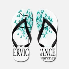 Cervical-Cancer-Tree Flip Flops