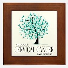 Cervical-Cancer-Tree Framed Tile