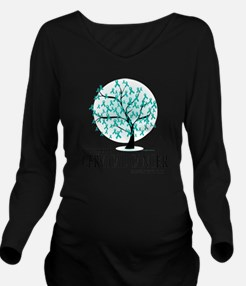 Cervical-Cancer-Tree Long Sleeve Maternity T-Shirt