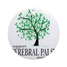 Cerebral-Palsy-Tree Round Ornament