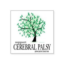 "Cerebral-Palsy-Tree Square Sticker 3"" x 3"""