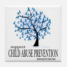 Child-Abuse-Tree Tile Coaster