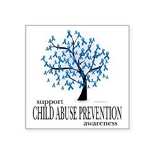 "Child-Abuse-Tree Square Sticker 3"" x 3"""